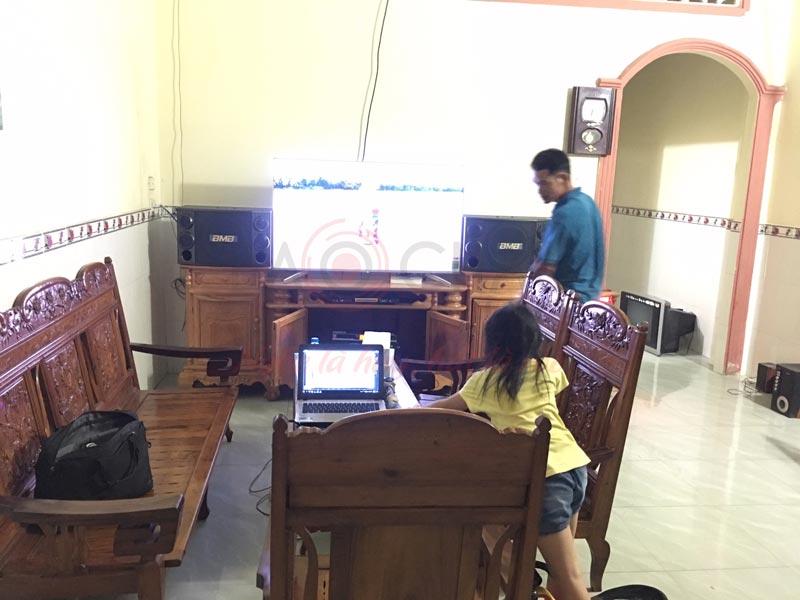 Hình ảnh lắp đặt, chuyển giao bộ dàn âm thanh gia đình 40 triệu tại Biên Hòa