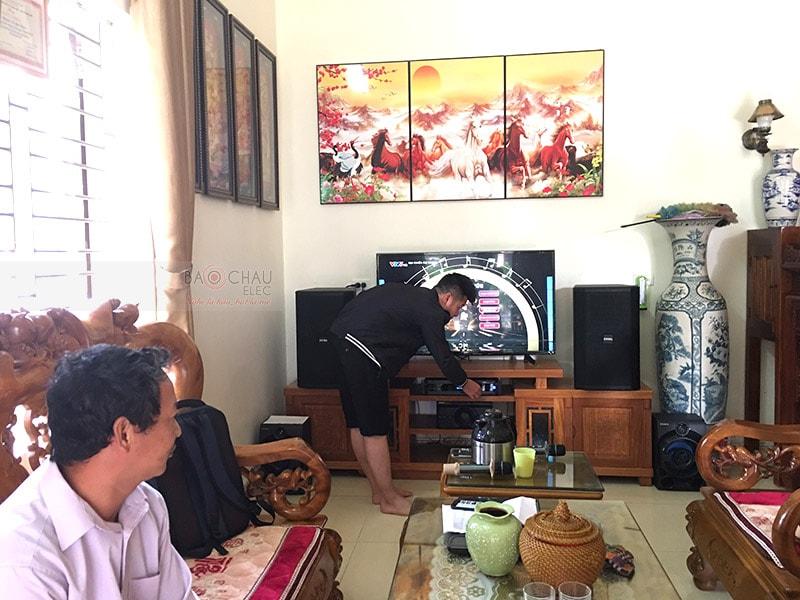Khánh hàng tại Hà Nội lựa chọn loa BIK BSP 412 cho dàn karaoke của gia đình mình