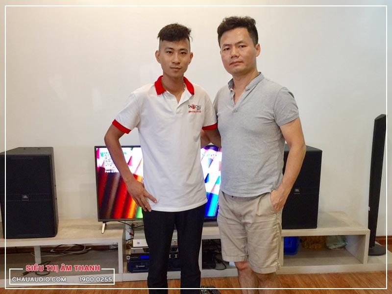 Lắp đặt dàn karaoke 60 triệu cho gia đình anh Nam tại chung cư An Sinh - Hà Nội