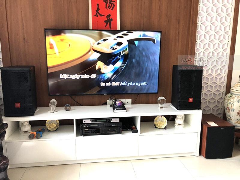 Tổng thể dàn karaoke của gia đình anh Tuấn sau khi được đội ngũ kỹ thuật viên của Bảo Châu Elec lắp đặt hoàn thiện