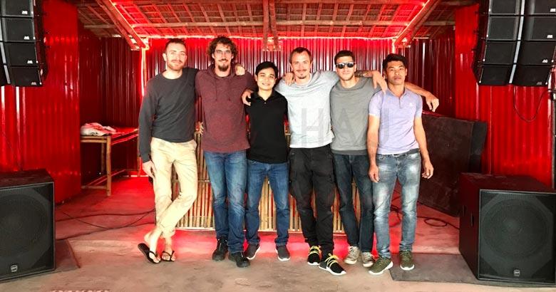 Dàn âm thanh giải trí line array tại nhà hàng Opio Hội An - Quảng Nam
