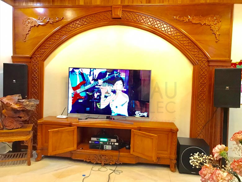 Lắp đặt dàn karaoke gia đình cực hay, giá tốt cho anh Uyển tại Hà Đông (HN)