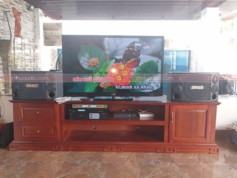 Hình ảnh lắp đặt dàn karaokegia đình 24 triệu cho anh Linhtại FLC Thanh Hóa