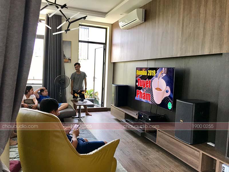 Hình ảnh lắp đặt dàn karaokegia đình cao cấp cho anh Thanh tại huyện Quảng Xương, Thanh Hóa