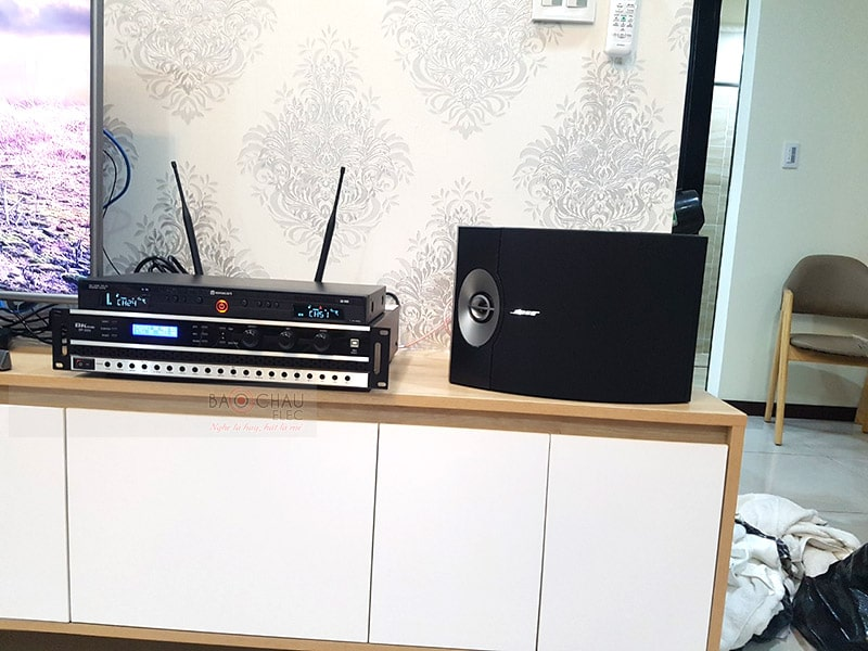 Hình ảnh trọn bộ dàn karaoke Bose được Bảo Châu HCM lắp đặt và bàn giao