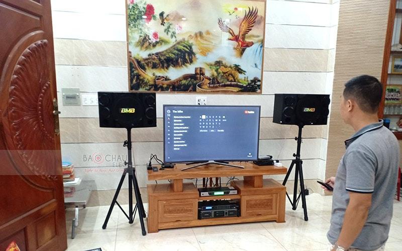 Dàn karaoke của khách hàng ở TP. Hồ Chí Minh sử dụng cục đẩy SAE Lexpro PXM7