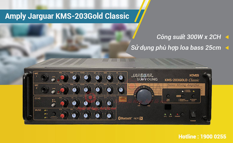 Amply Jarguar Suhyoung KMS-203 Gold Classic 2 kênh cực hay của Hàn Quốc