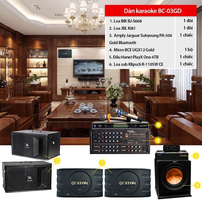 Bộ dàn karaoke BC-03GD
