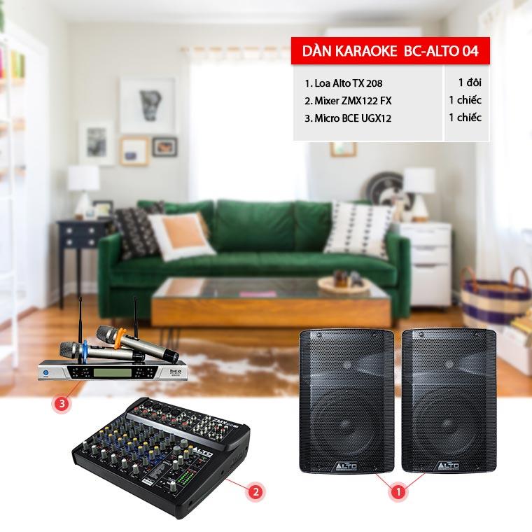 Dàn karaoke, chơi DJ cực hay cho phòng 20-30m2: BC-Alto04