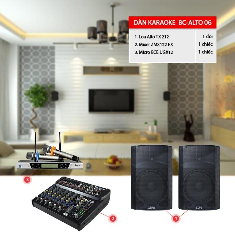Dàn karaoke - chơi DJ BC-Alto06 cho diện tích từ 20-30m2