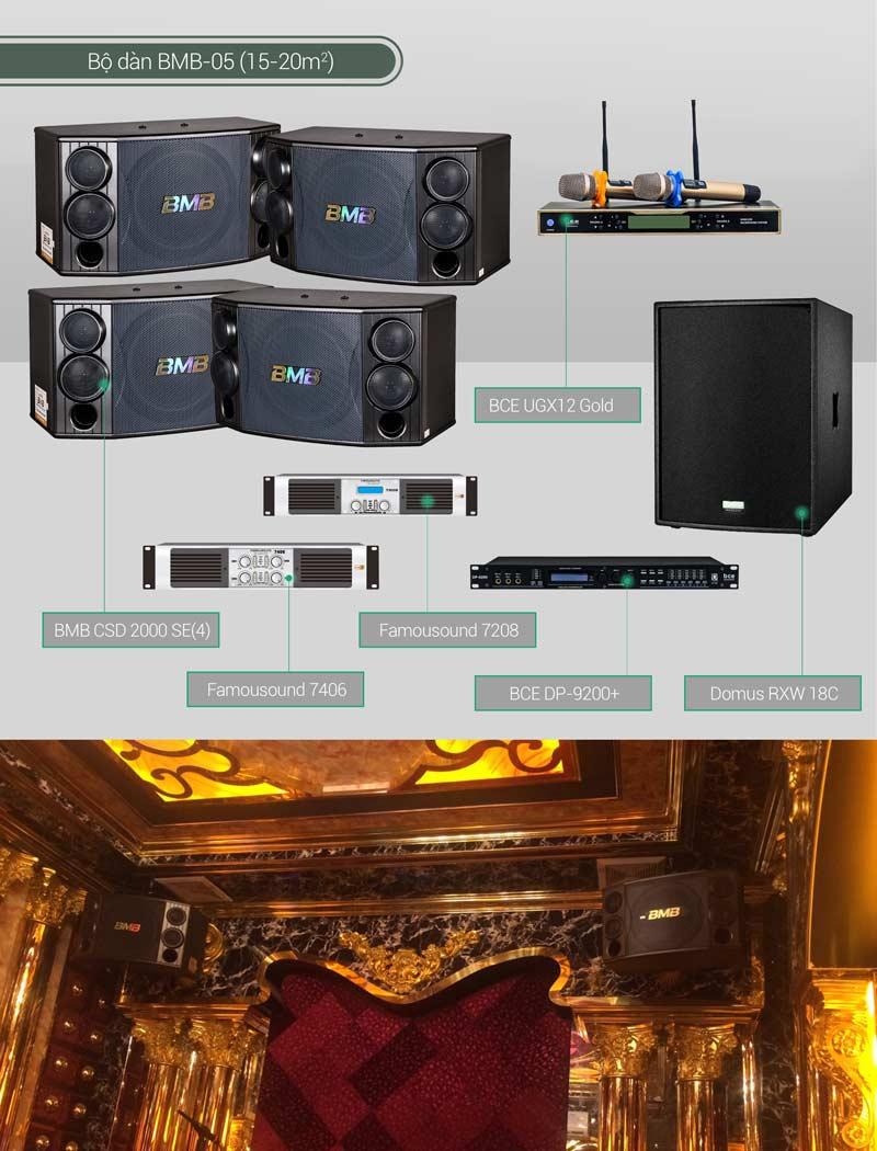 Dàn karaoke BC-BMB05 minh họa