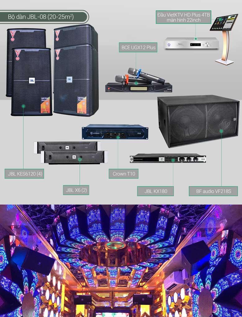 Dàn karaoke BC-JBL08 minh họa
