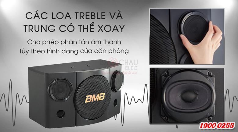 Loa treble của BMB CSE-308 có thể xoay để tạo ra độ khuếch tán âm thanh phù hợp