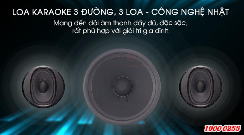 Loa BMB CSE-308(SE) có cấu tạo 3 loa, 3 đường tiếng cho âm thanh toàn dải