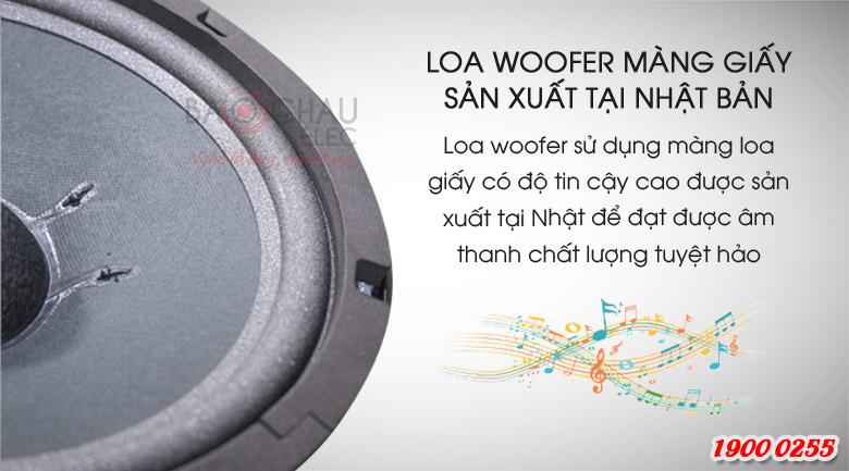 Loa BMB CSV-450(SE) có loa woofer màng giấy, sản xuất tại Nhật Bản