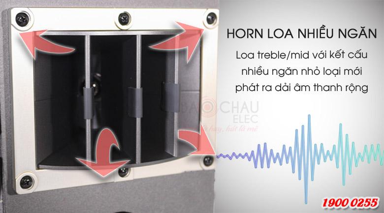 Loa BMB CSV-450(SE) có horn loa treble/trung chia thành nhiều ngăn tạo ra điều hướng âm thanh mới lạ