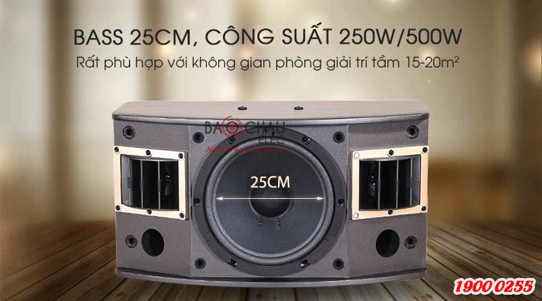 Loa BMB CSV-450(SE) có đường kính bass 25cm, công suất 250W/500W