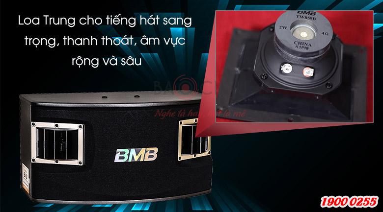 Loa BMB CSV-450(SE) có lao trung truyền tải tiếng hát tốt