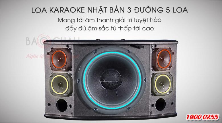 Loa BMB CSD-880(C) là loa karaoke 3 đường 5 loa, đẩy đủ dải âm