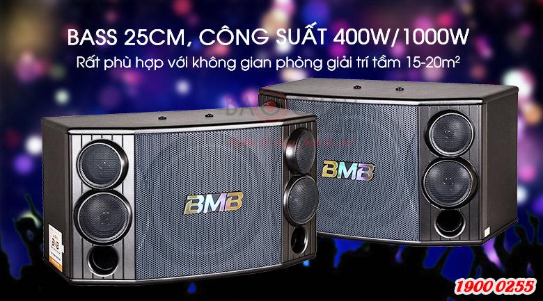 Loa BMB CSD-880(SE) có bass loa 25cm, công suất 400W/1000W