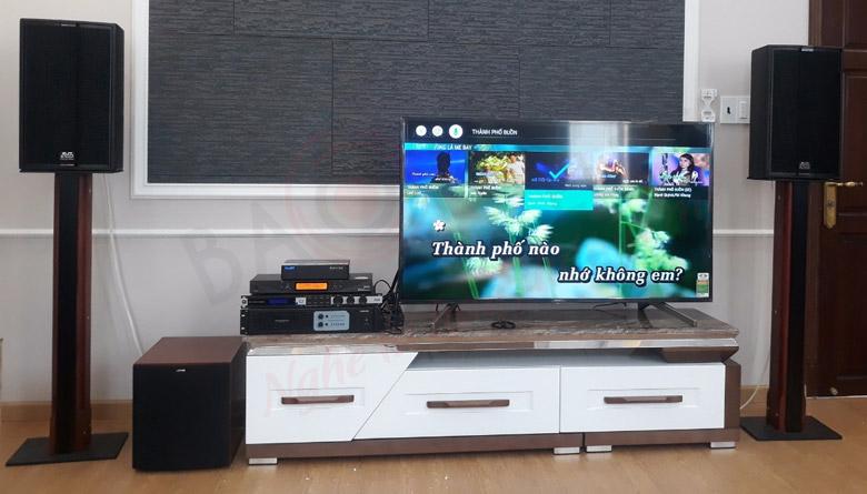 Bố trí sub trong dàn karaoke gia đình phù hợp với người dùng