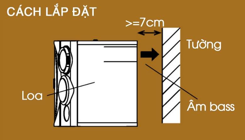 Cách lắp đặt loa BMB CSE 310II với bass phản xạ sau