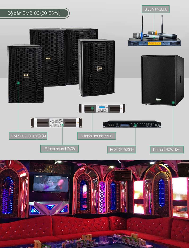 Dàn karaoke cao cấp cho âm thanh chất lượng, chuyên nghiệp như quát hát kinh doanh