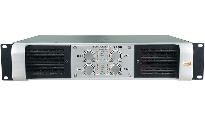 Cục đẩy Famousound 7406 - 4 kênh, thiết kế hiện đại, công suất khủng