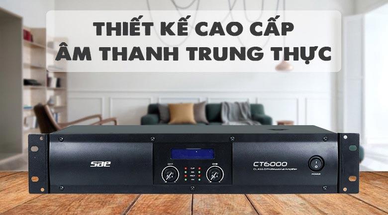 Cục đẩy SAE CT6000 thiết kế cho âm thanh trung thực