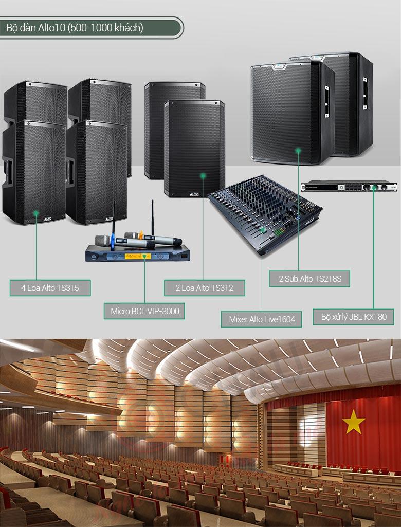 Dàn âm thanh sân khấu chuyên phục vụ cho các không gian giải trí diện tích lớn