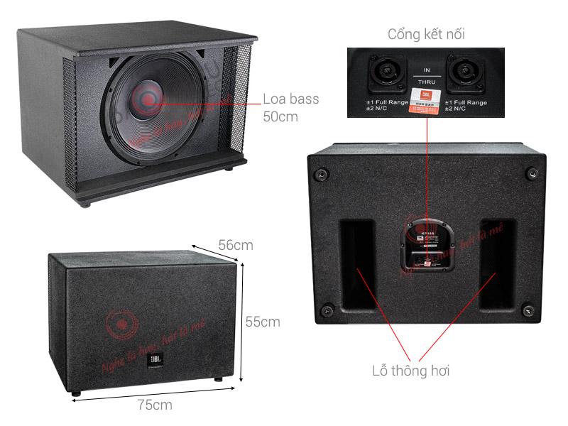 JBL KP-18S là dòng sub hơi bass 50cm uy lực, chuyển dành cho những dàn karaoke phòng VIP, rộng