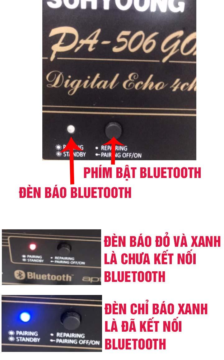 Cách kết nối bluetooth với amply Jarguar Suhyoung
