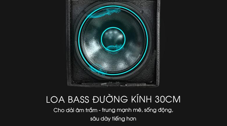 Loa bass đường kính 30cm cho âm thanh mạnh mẽ, sôi động