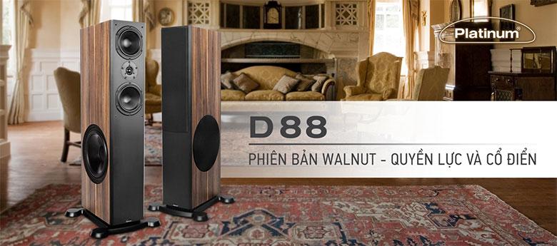 Loa Paramax Platinum D88(Walnut) là dòng loa đầu bảng hiện nay của thương hiệu Paramax vớithiết kế đẳng cấp từ châu Âu