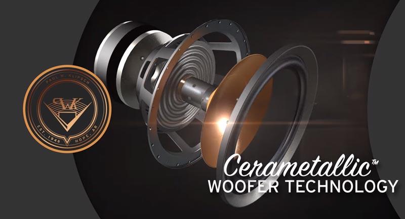 Loa sub điện Klipsch SPL-100 Loa Bass màng Cerametallic™ phủ Copper