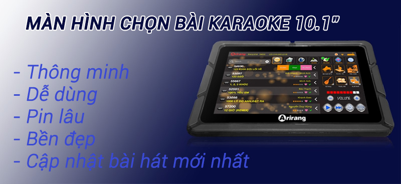 Máy tính bảng Arirang PAD-888 thông minh dễ dùng cho karaoke