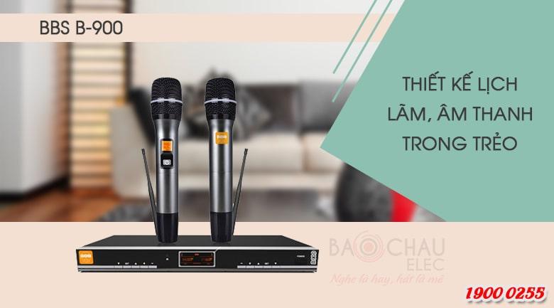Top 5 micro không dây karaoke tốt nhất hiện nay: Micro BBS B900
