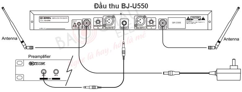 Cách sử dụng Bộ Micro BIK BJ-U550