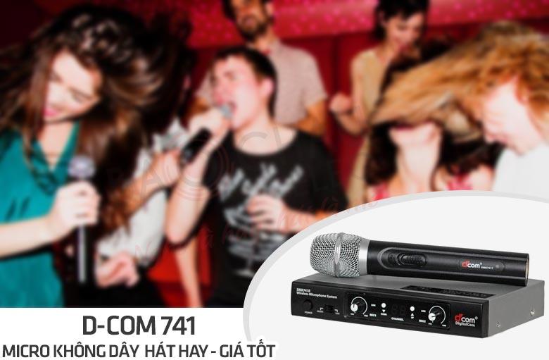 Micro D-Com 741 - micro không dây hát hay, giá tốt