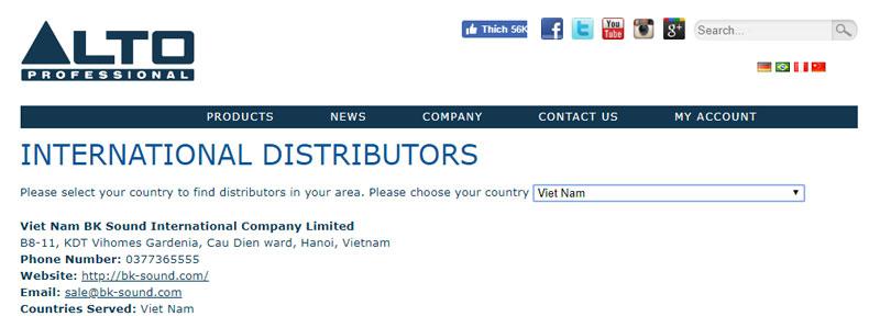 Nhà nhập khẩu các sản phẩm Alto chính thức tại Việt Nam