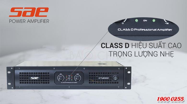 Cục đẩy công suất SAE CT3000 class D hiện đại