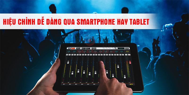 MixerSoundcraft Ui12 có thể tương thích tốt với những thiết bị thông minh như Smartphone, Tablet, Laptop