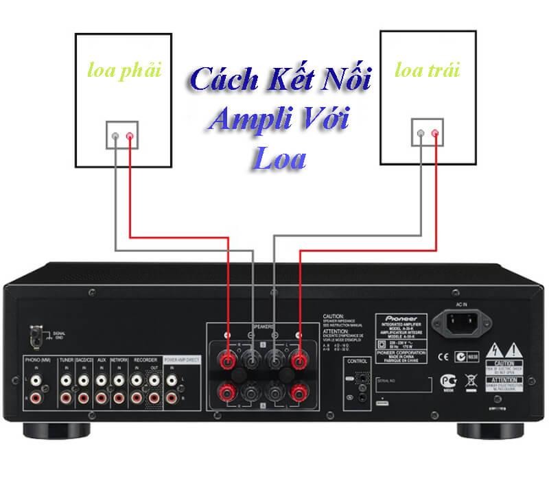 Cách kết nối loa với amply karaoke