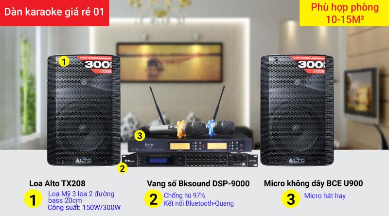 Dàn karaoke giá rẻ 01 - ca hát và nghe nhạc cực hay