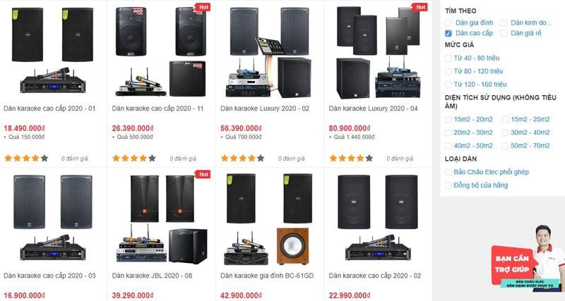 Các dàn karaoke cao cấp bán tại Bảo Châu Elec TPHCM