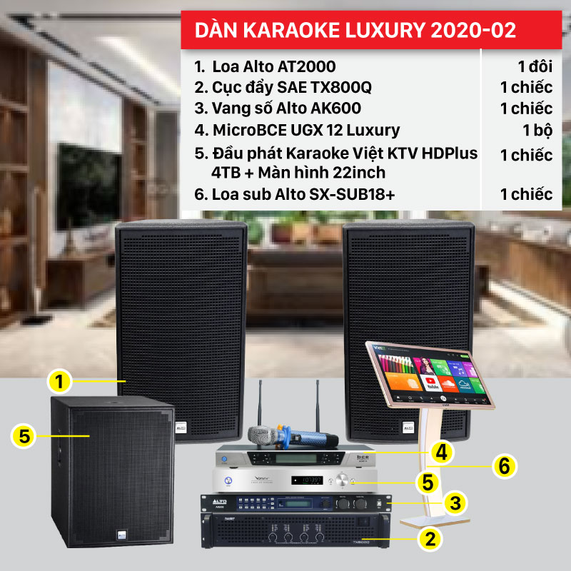 Dàn karaoke Luxury 2020-02