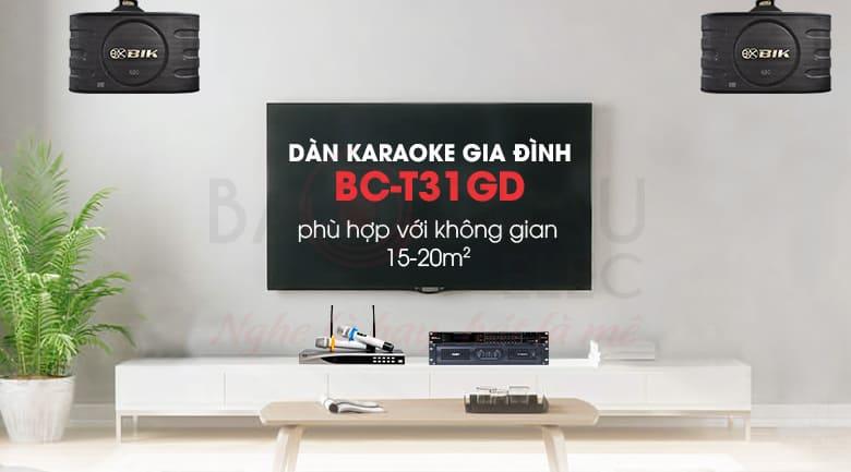 Dàn karaoke gia đình BC-T31GD chuyên dụng cho nhu cầu hát karaoke cũng như nghe nhạc