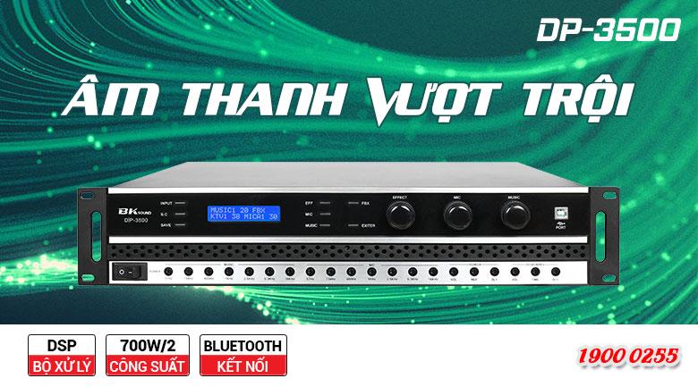 Cục đẩy liền vang BKSound DSP 3500 tinh chỉnh tín hiệu âm thanh cực tốt