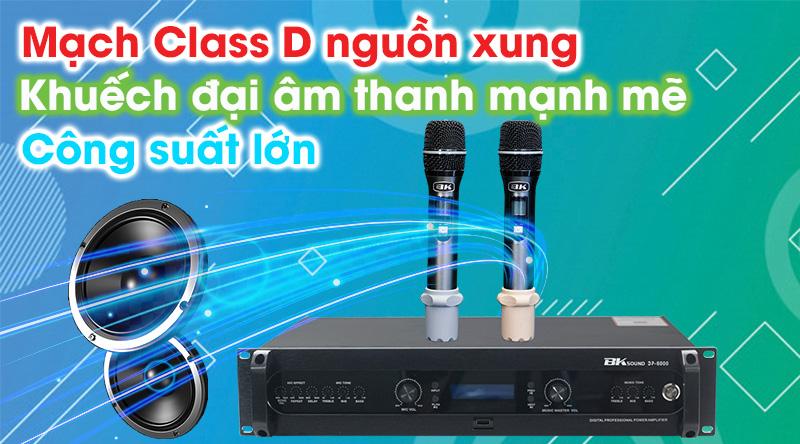 Đẩy liền vang kèm micro không dây BKsound DP6000 khuếch đại và xử lý âm thanh mạnh mẽ, sống động