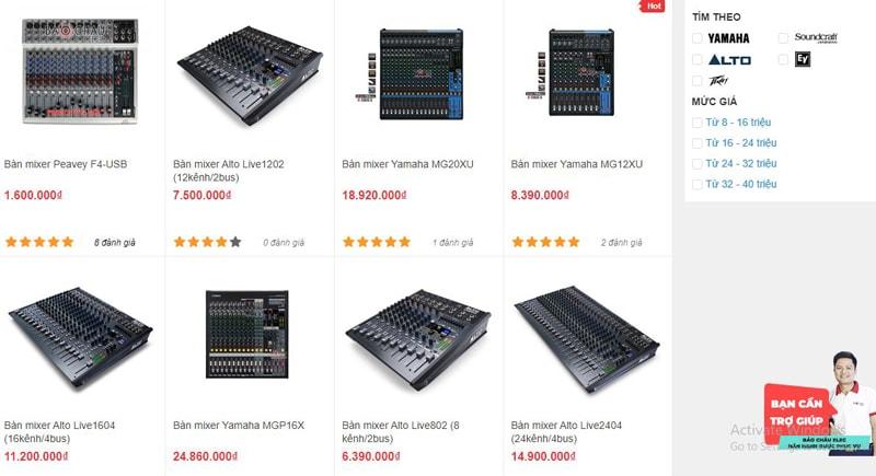 Các mẫu bàn mixer đang được bán tại Bảo Châu Elec Đà Nẵng